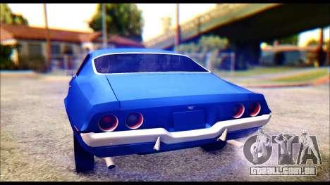 Chevrolet Camaro Z28 1970 Tunable para GTA San Andreas vista inferior