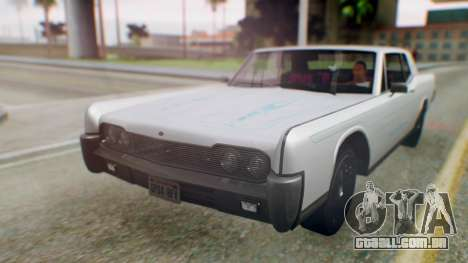 GTA 5 Vapid Chino Tunable PJ para GTA San Andreas vista traseira