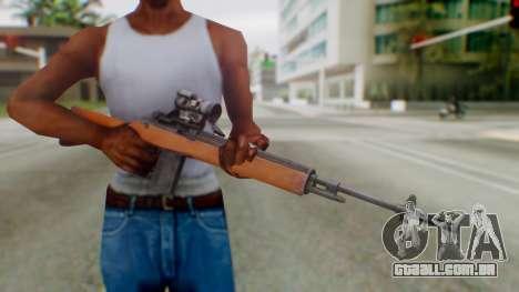 Arma2 M14 Assault Rifle para GTA San Andreas terceira tela
