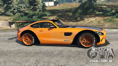 GTA 5 Mercedes-Benz AMG GT 2016 [LibertyWalk] vista lateral esquerda