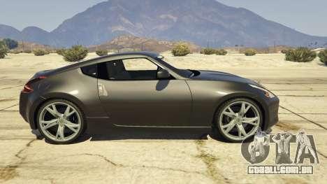 GTA 5 Nissan 370z v2.0 vista lateral esquerda