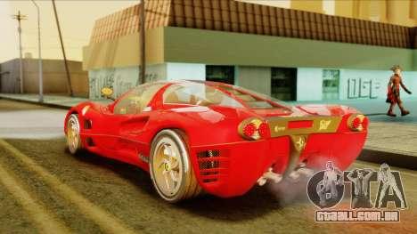 Ferrari P7 Coupè para GTA San Andreas esquerda vista