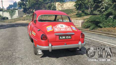 GTA 5 Saab 96 [rally] traseira vista lateral esquerda