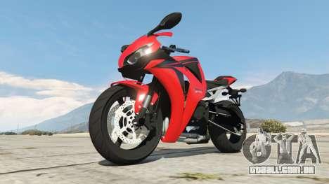 GTA 5 Honda CBR1000RR [Red] vista lateral direita