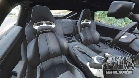 GTA 5 Dodge Viper SRT 2014 vista lateral direita