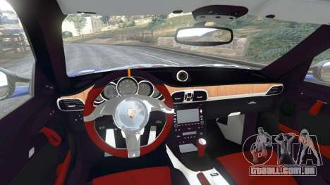 GTA 5 Porsche 997 GT2 RS traseira direita vista lateral