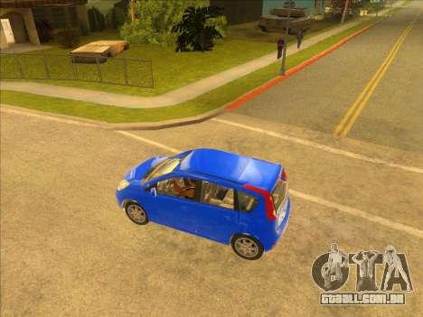 Nissan Note v0.5 Beta para GTA San Andreas esquerda vista