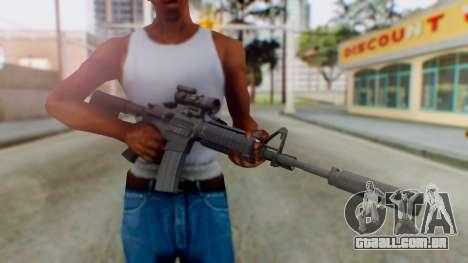 Arma Armed Assault M4A1 Aimpoint Silenced para GTA San Andreas terceira tela