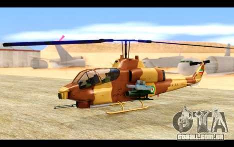 AH-1W IRIAF SuperCobra para GTA San Andreas esquerda vista