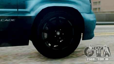 GTA 5 Albany Cavalcade II IVF para GTA San Andreas traseira esquerda vista