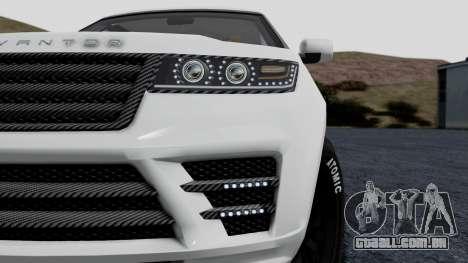 GTA 5 Gallivanter Baller LE LWB Arm IVF para GTA San Andreas vista traseira