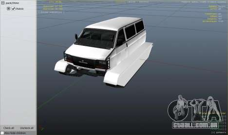 GTA 5 Police Transporter Tracked vista lateral direita