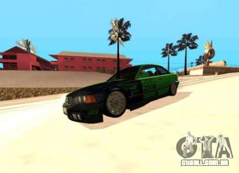 BMW E36 320i para GTA San Andreas vista traseira