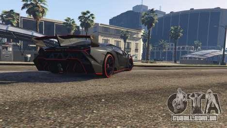 GTA 5 2013 Lamborghini Veneno HQ EDITION voltar vista