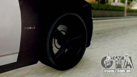 New Police LV para GTA San Andreas traseira esquerda vista