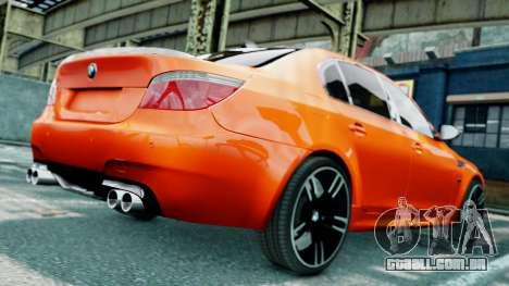 BMW M5 E60 para GTA 4 vista inferior