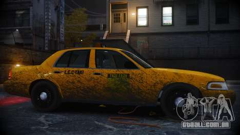 Ford Crown Victoria L.C.C Taxi para GTA 4 esquerda vista