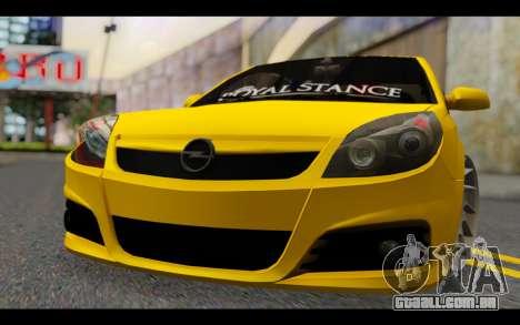 Opel Vectra Special para GTA San Andreas vista traseira