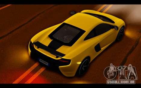 McLaren 650S Coupe para GTA San Andreas interior