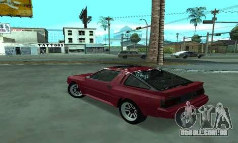 Mitsubishi Starion ECI-R para GTA San Andreas esquerda vista