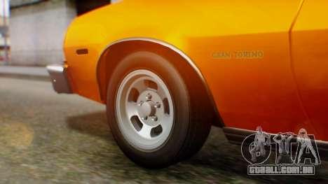 Ford Gran Torino 1974 para GTA San Andreas vista traseira