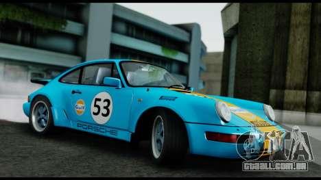 Porsche 911 Turbo 3.2 Coupe (930) 1985 para GTA San Andreas vista interior