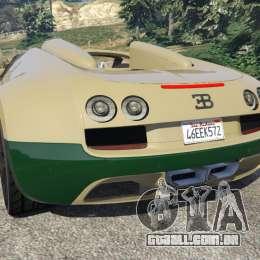 bugatti veyron grand sport vitesse para gta 5. Black Bedroom Furniture Sets. Home Design Ideas