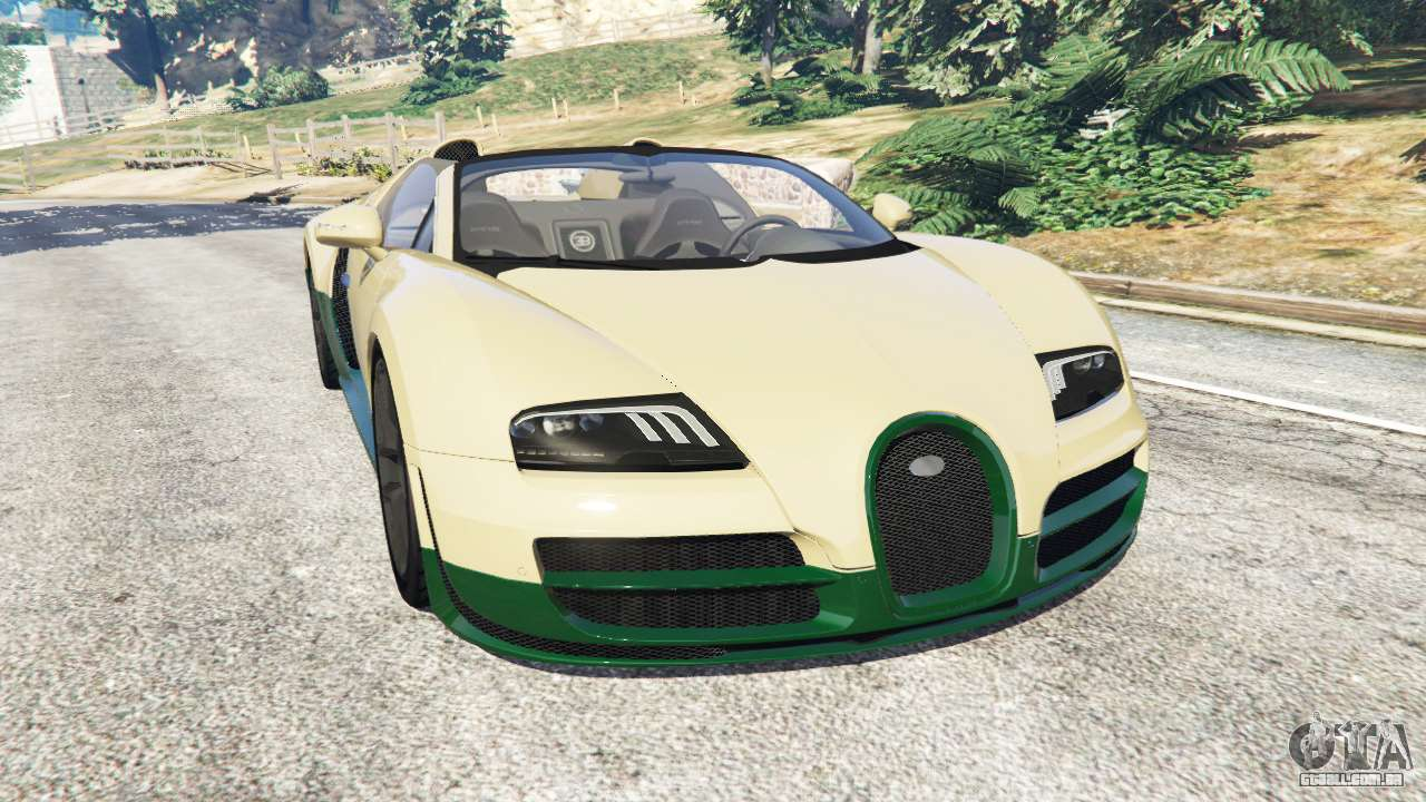 bugatti veyron grand sport vitesse para gta 5. Black Bedroom Furniture Sets. Home Design Ideas