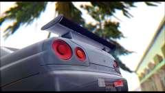 Nissan Skyline R-34 GT-R V-spec 1999 Tunable para GTA San Andreas