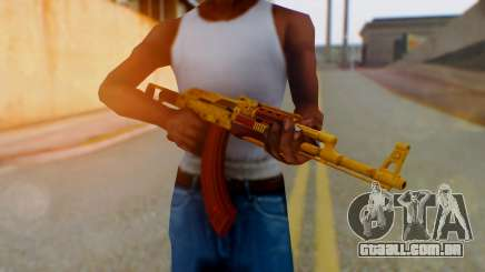 GTA 5 Assault Rifle Luxury Camo para GTA San Andreas
