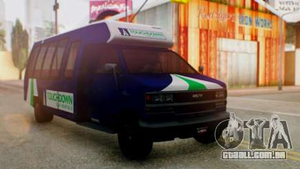 GTA 5 Rental Shuttle Bus Touchdown Livery para GTA San Andreas