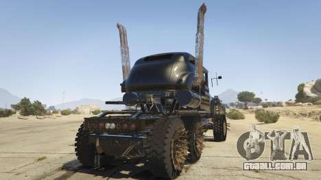 GTA 5 Mad Max The War Rig traseira vista lateral esquerda