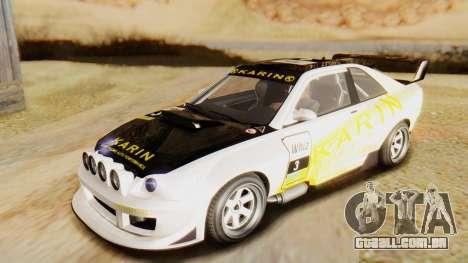 GTA 5 Karin Sultan RS para GTA San Andreas vista interior