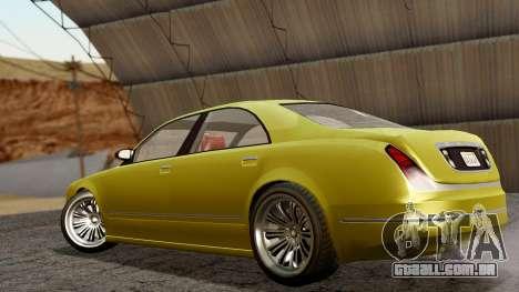 GTA 5 Enus Cognoscenti 55 IVF para GTA San Andreas esquerda vista