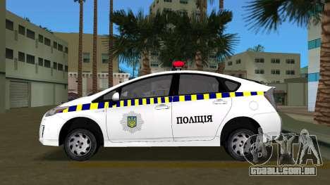Toyota Prius Polícia Da Ucrânia para GTA Vice City deixou vista