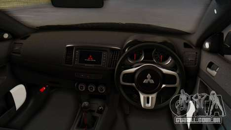 Mitsubishi Lancer Evolution X Stance para GTA San Andreas vista traseira