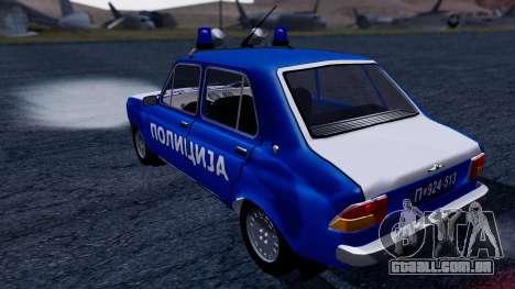 Zastava 101 Policija para GTA San Andreas esquerda vista