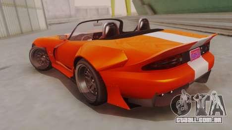 GTA 5 Bravado Banshee 900R para GTA San Andreas esquerda vista