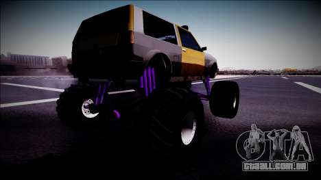 Club Monster Truck para GTA San Andreas esquerda vista