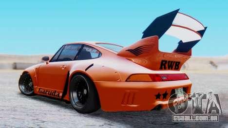 Porsche 993 GT2 RWB GARUDA para GTA San Andreas esquerda vista