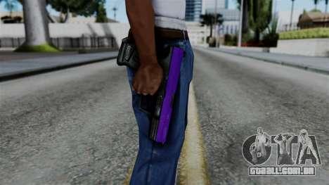 Purple Desert Eagle para GTA San Andreas terceira tela