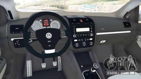 GTA 5 Volkswagen Golf Mk5 GTI 2006 v1.0 traseira direita vista lateral