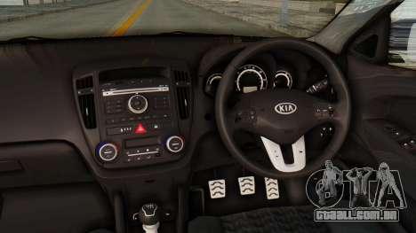 Kia Ceed Stance AirQuick para GTA San Andreas vista interior