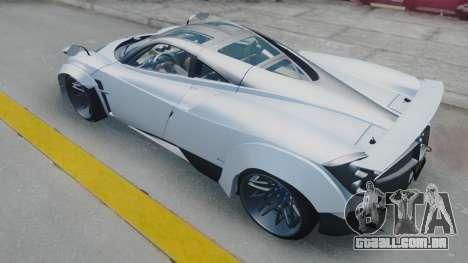 Pagani Huayra LB Performance para GTA San Andreas traseira esquerda vista