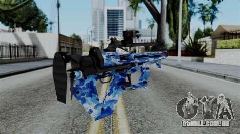 CoD Black Ops 2 - PDW-57 Camo Blue para GTA San Andreas segunda tela
