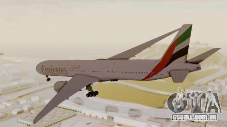 Boeing 777-9x Emirates Airlines para GTA San Andreas esquerda vista