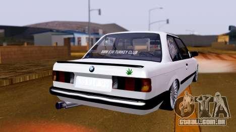 BMW M3 E30 Special para GTA San Andreas esquerda vista