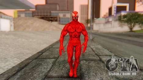 Marvel Heroes - Carnage para GTA San Andreas segunda tela