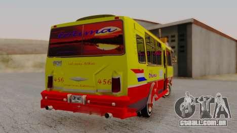 PAZ 3205 Stylo Colombia para GTA San Andreas esquerda vista