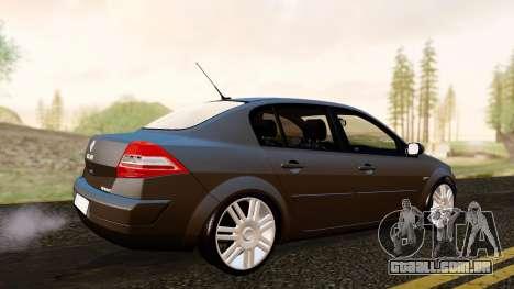 Renault Megane CPJ para GTA San Andreas traseira esquerda vista